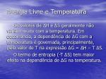 energia livre e temperatura