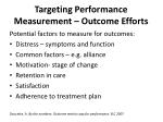 targeting performance measurement outcome efforts