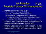 air pollution possible outdoor air interventions
