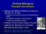 animal allergens possible interventions