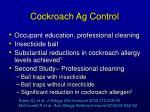 cockroach ag control