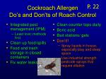 cockroach allergen do s and don ts of roach control