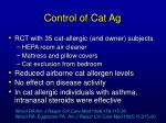control of cat ag