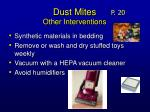 dust mites other interventions