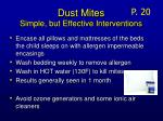 dust mites simple but effective interventions