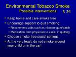 environmental tobacco smoke possible interventions