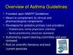 overview of asthma guidelines