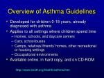 overview of asthma guidelines1