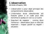 l observation de ketele et roegiers 1996