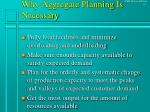 why aggregate planning is necessary
