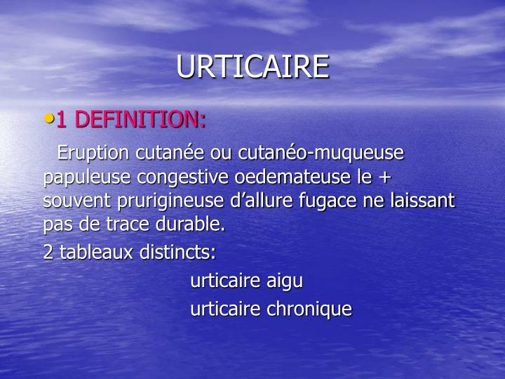urticaire n.