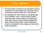faks modem