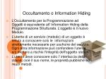 occultamento o information hiding