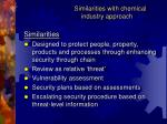 similarities with chemical industry approach1