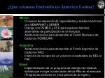 qu estamos haciendo en america latina