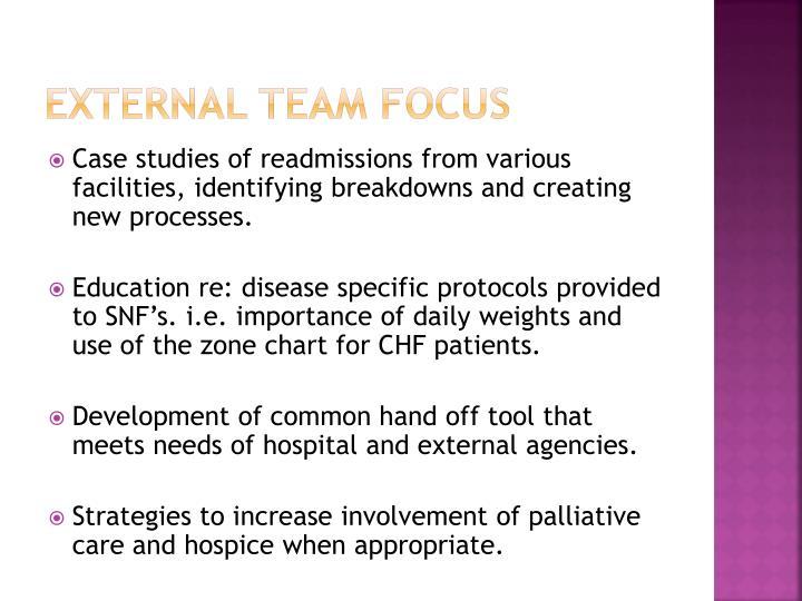 External team focus