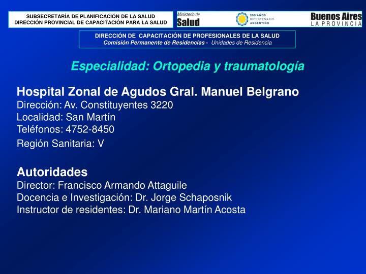 especialidad ortopedia y traumatolog a n.