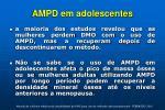 ampd em adolescentes