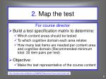 2 map the test