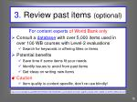 3 review past items optional
