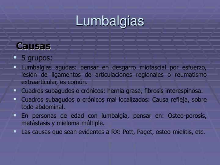 Lumbalgias