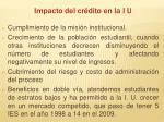 impacto del cr dito en la i u