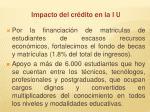 impacto del cr dito en la i u1