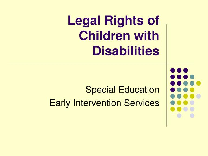 legal rights of children with disabilities n.