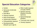 special education categories
