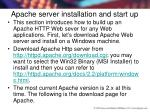 apache server installation and start up