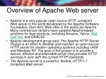overview of apache web server