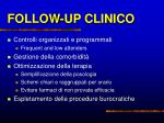 follow up clinico