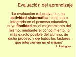 evaluaci n del aprendizaje1