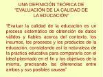 una definici n te rica de evaluaci n de la calidad de la educaci n