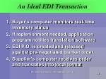 an ideal edi transaction