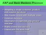 erp and basic business processes