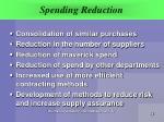 spending reduction