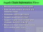 supply chain information flows