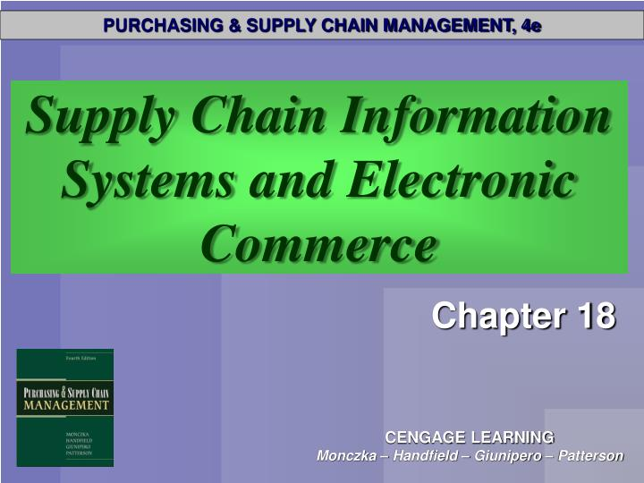 supply chain information systems and electronic commerce n.