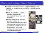 universidad de los andes bogot colombia