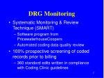 drg monitoring