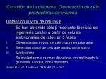 curaci n de la diabetes generaci n de c ls productoras de insulina1