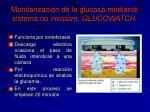 monitorizaci n de la glucosa mediante sistema no invasivo glucowatch