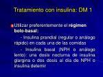 tratamiento con insulina dm 1