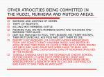 other atrocities being committed in the mudzi murhewa and mutoko areas