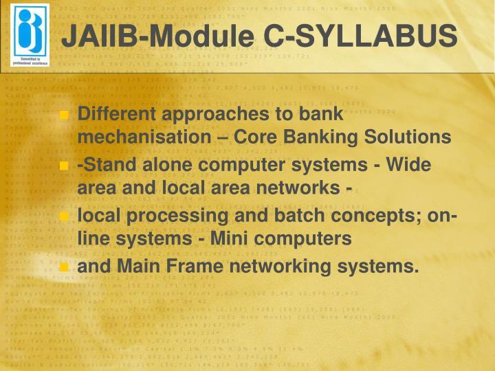 JAIIB-Module C-SYLLABUS