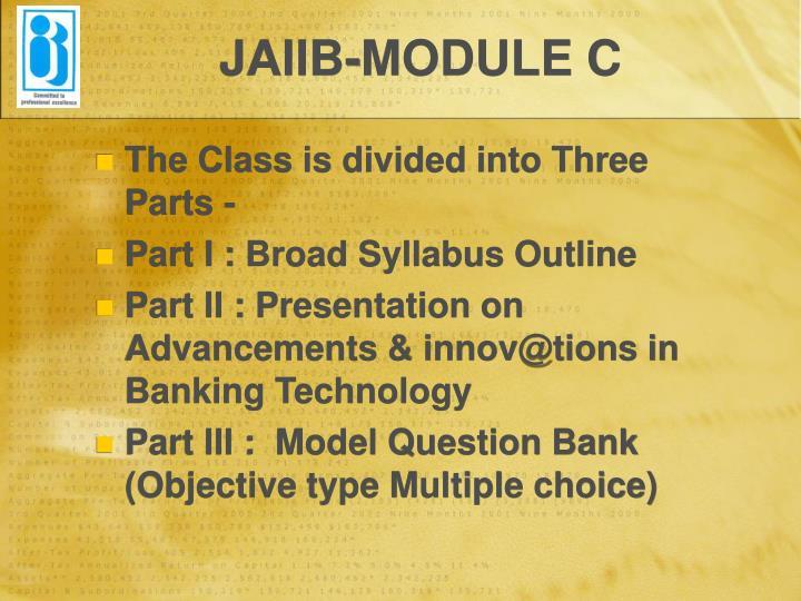 Jaiib module c1