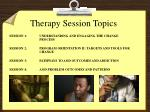 therapy session topics