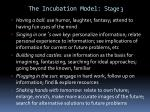 the incubation model stage 3