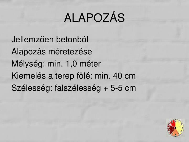 ALAPOZÁS